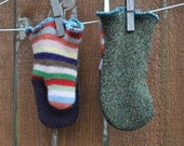 UPCYCLED 100% wool mittens 3T