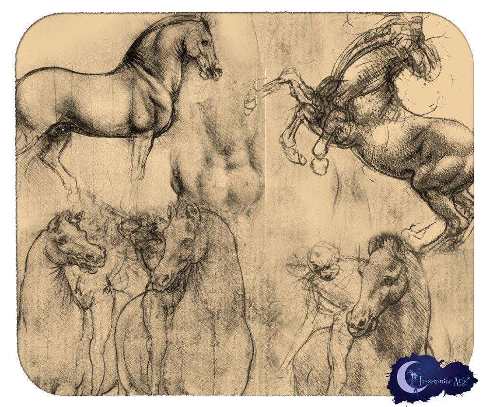 Leonardo DaVinci's Horses Art Mouse Pad by InsomniacArts ...