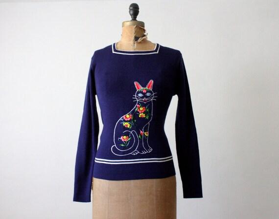 1970's cat sweater