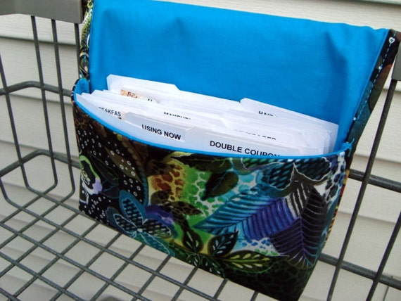 Coupon Organizer /Budget Organizer Holder - Attaches to Your Shopping Cart - Shangri-la Floral LAST ONE