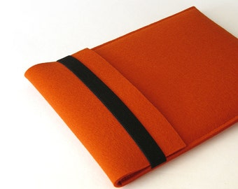 iPad Air iPad Pro felt sleeve iPad sleeve orange