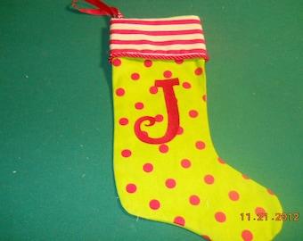 J Stocking sports stripes and polka dots