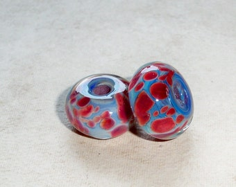 Exciting Boro Lampwork Beads   Set of 2