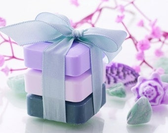 Soap - Gift Sets - 3 Bars 6 oz  Each  - Natural Soaps - Organic Soap - Moisturizing Soap - Glycerin Soap -  Choose Your Own Scent