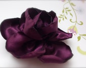 Plum Purple Flower Clip or Corsage Accessory - SA6