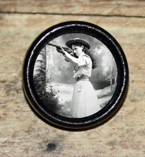 Cowgirl ANNIE OAKLEY Tie Tack or Ring or Brooch pin or Pendant