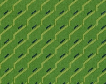 Ikebana Collection by Dear Stella, Side Step in Green- 1 yard listing