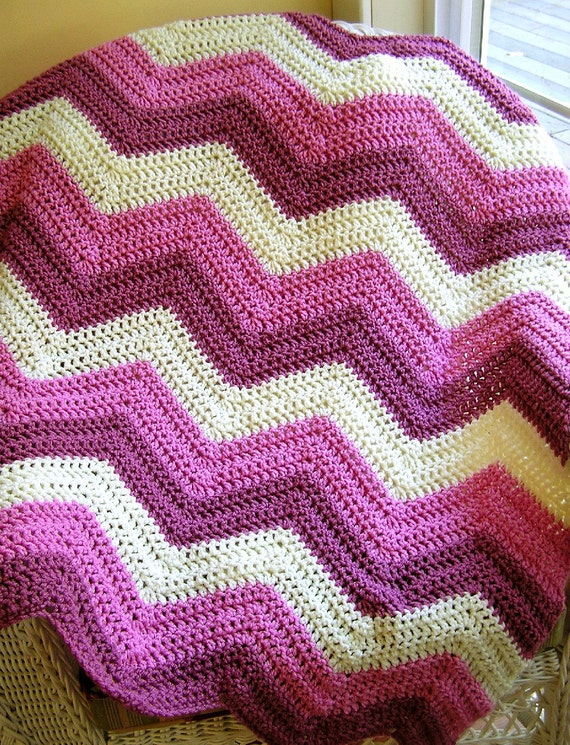 Zig Zag Knitting Pattern Baby Blanket : Unavailable listing on etsy