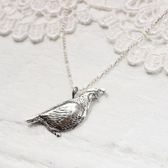 Quail Necklace in Sterling Silver