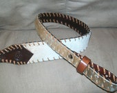 Hair on Cowhide Rifle Sling with Monogrammed Initials