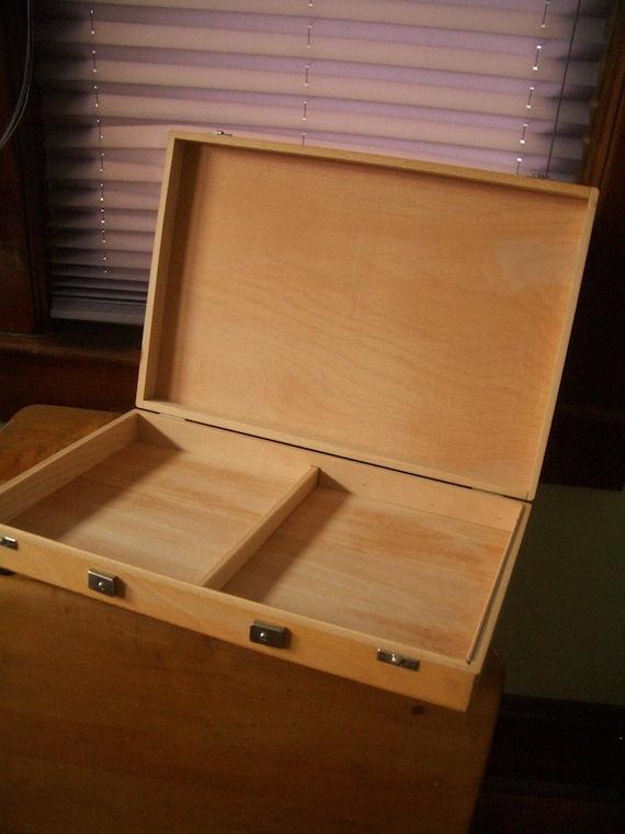 Box-wooden box- vintage artists box organizer