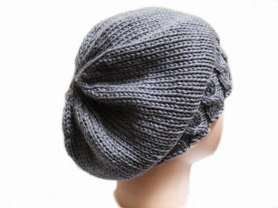Knitted Beret Pattern With Straight Needles : Hat Knitting Pattern Straight Needles images
