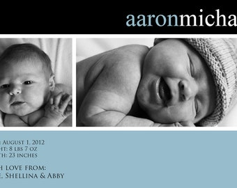 Birth Announcement: Horizontal Two 4x6