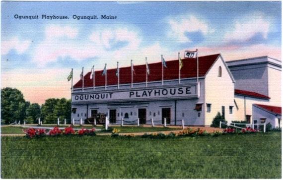 Vintage Maine Postcard - The Ogunquit Playhouse (Unused)