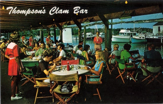 Vintage Cape Cod Postcard - Thompson's Clam Bar, Harwichport (Unused)