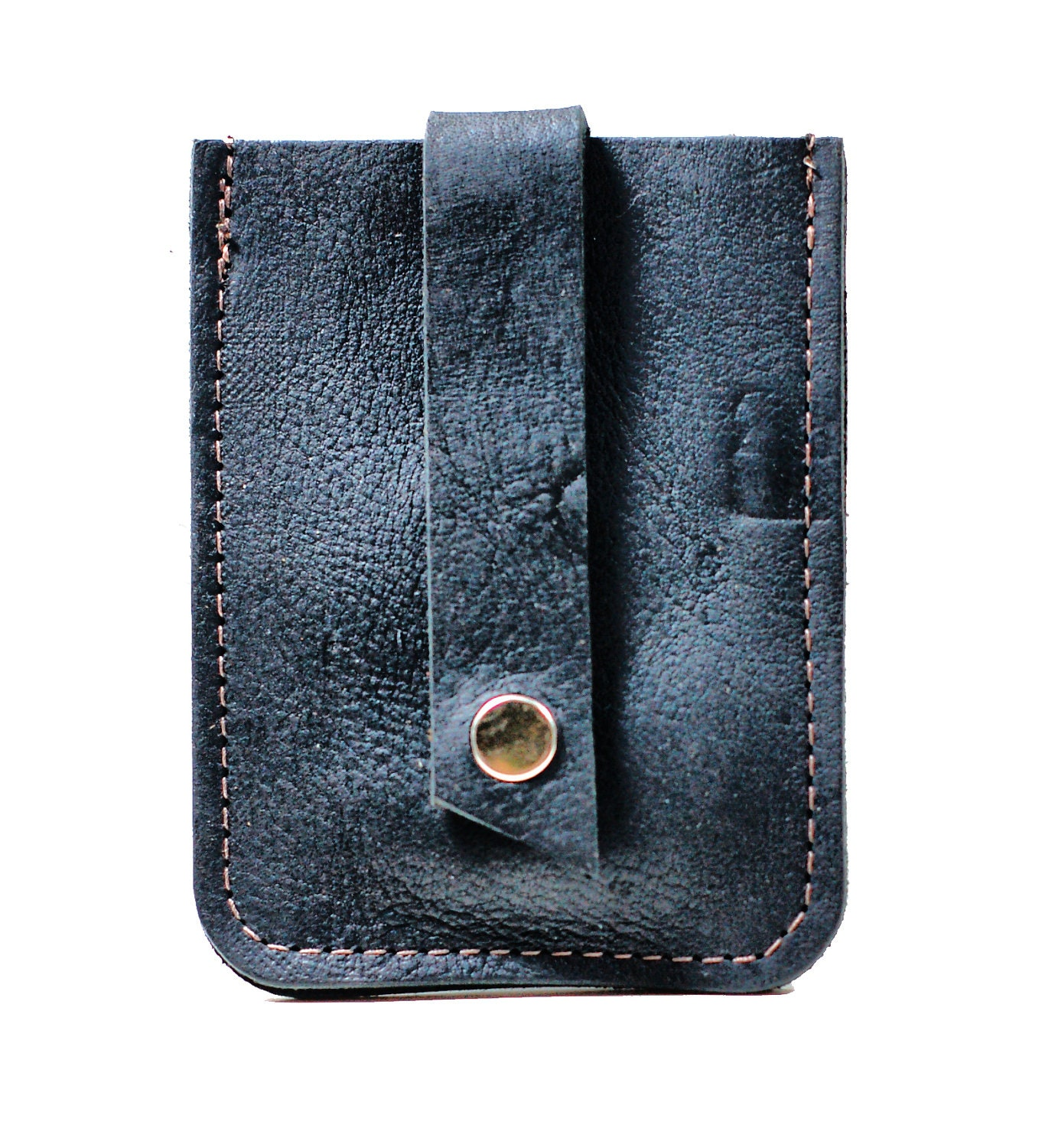 Skinny Leather Wallet Slim Pop Up Business Card Holder And