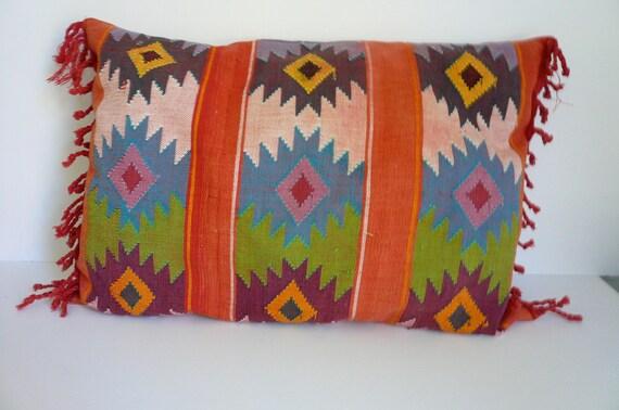 Vintage Pillow Guatemalan Textile