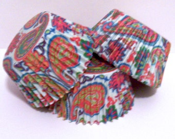 40 Hilliary Paisley Cupcake Liners by Vestli House