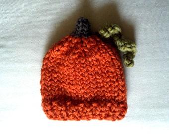 Baby Pumpkin Hat, Chunky Pumpkin Hat, Baby Halloween Hat