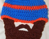 Inspired by the Florida Gators 6 to 12 Months Baby Beard Beanie Can Customize Size