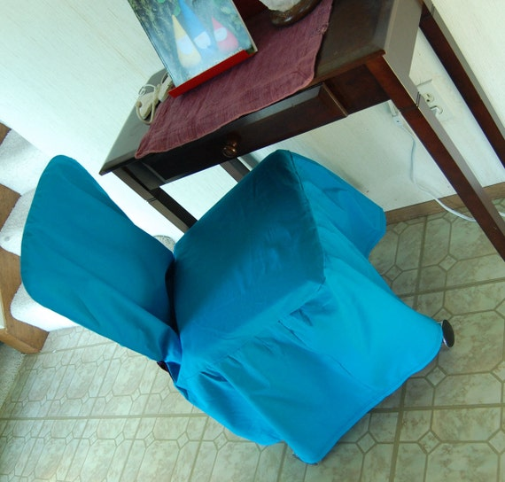 Turquoise and Purple Little Desk Chair Cover Ready Made Sale