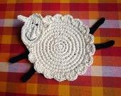 Crochet Sheep Pattern - Lamb Coaster Pattern - Crochet Sheep Coaster - Sheep Coaster Pattern