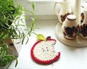 Christmas Coasters Crochet Apple Coasters (set of 4)