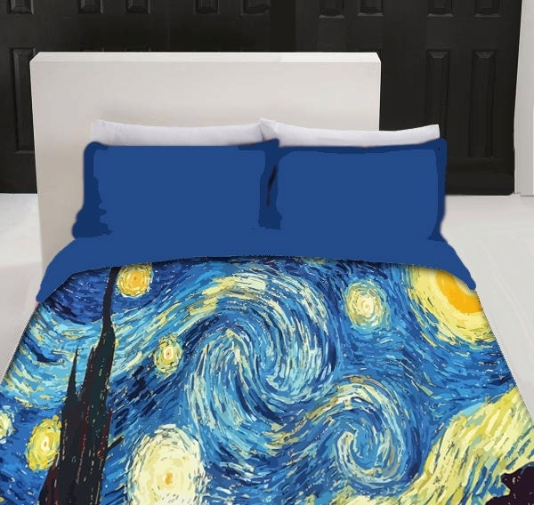 Starry Night Custom Duvet Cover Available Twin Size By
