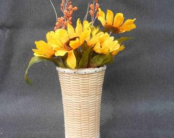 Vase, Nantucket Lightship Style Basket