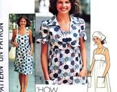70s Sundress Jacket & Scarf Vintage Pattern Simplicity 7292 UNCUT Bust 29 Juniors