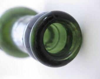 VINTAGE 1931 Antique Embossed Dark Green Old Glass Bottle - Tadcaster Tower Brewery Co. Ltd. BTC JL & Co. Extra Thick Glass Beer Malt Bottle