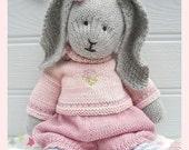 Bunny Knitting Pattern/ Toy Knitting Pattern/ PRIMROSE Rabbit/ Plus Free 'Handmade Shoes' Knitting Pattern/ INSTANT Download