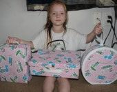 Full Vintage Holly Hobbie Luggage Set for Kids, Great Present
