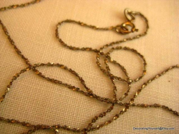 24 Inch Sterling Twisted Link Chain Necklace Italy