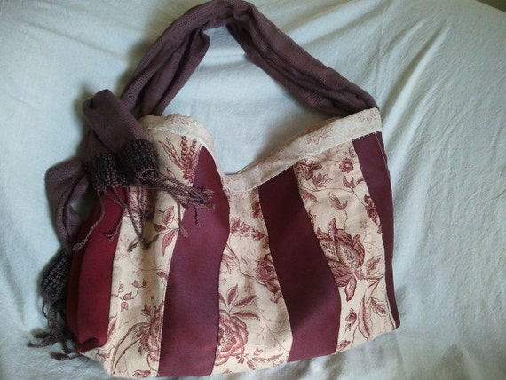 Large Red Slouch Bag