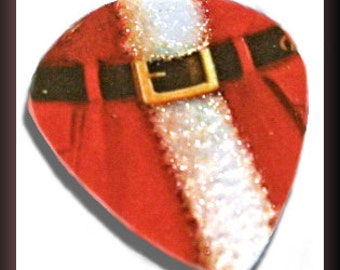 Belted Santa Suit-Guitar Pick-Limited Edition--Upcycled Gift Card-Med Guitar Picks