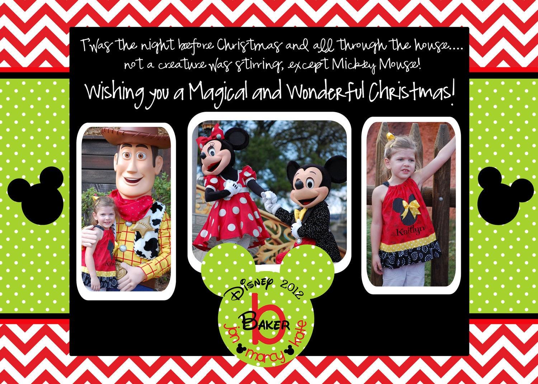 Disneyland Christmas Photo Cards