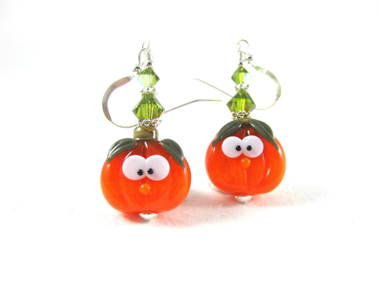 earrings pumpkin earrings o lantern earrings