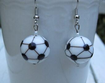 Kicking Good Soccer Earrings
