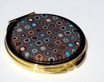 Gustav Klimt Covered Compact Mirror - 2 sides, Polymer Clay, Compact Mirror, Handmade, Gustav Klimt, Gift for Her, Mom Gift