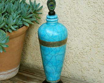RAKU COIL POTTERY Lidded Jar Handmade Pottery