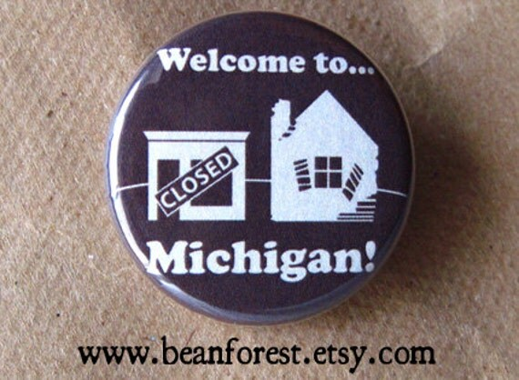 welcome to michigan pin michigan button magnet