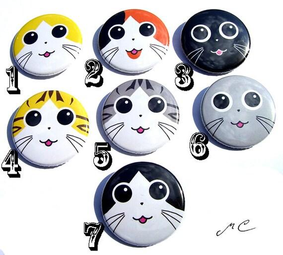 Cat Face Buttons (1 button)