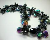 Freshwater Pearls Crystals in Peacock Tahitian Bridal Bridesmaid Mother of Bride Wedding Jewelry