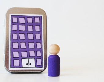 My Pocket Place - Purple - Choose Your Color - Waldorf and Montessori Inspired Pretend Play Doll House Toy