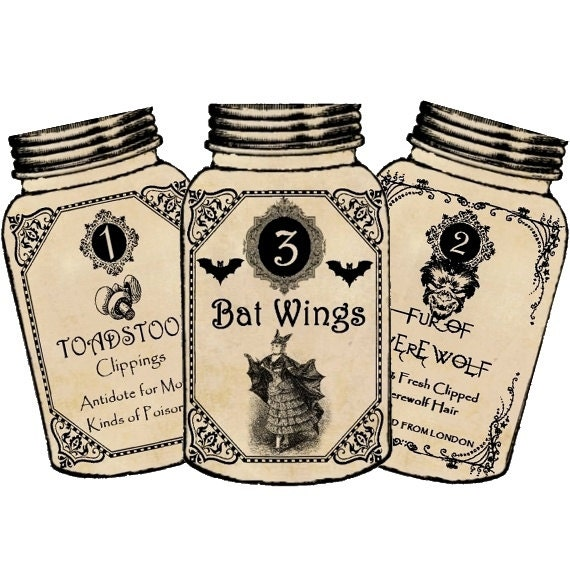 Witch Potion Labels