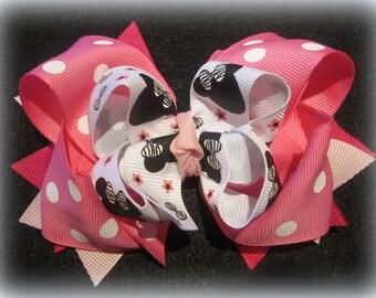Disney Hairbow, Minnie Mouse Hair Bow, Minnie Bows, Pink Minnie Bow, Mouse Hairbow, Disney band, Minnie Band, Minnie Zebra Hairbow, Baby Bow