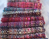 SUPER SALE WAS 72 Rustic and Colorful Handspun and Handwoven Scarf