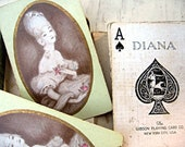 Vintage playing cards romantic Marie Antoinette style Gibson Playing Card Co. Set of 6