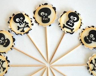 Cooli-o Skullios Cupcake Toppers